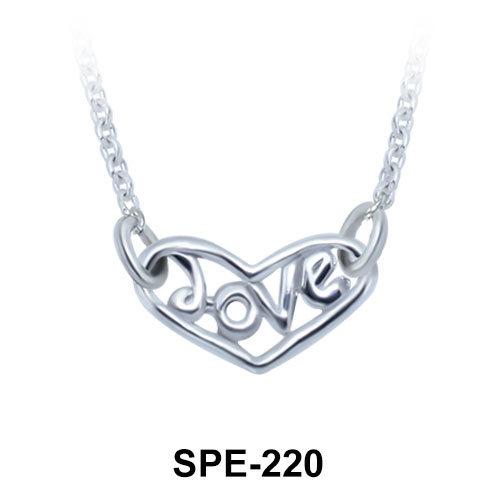 Love Heart Silver Pendants Line SPE-220