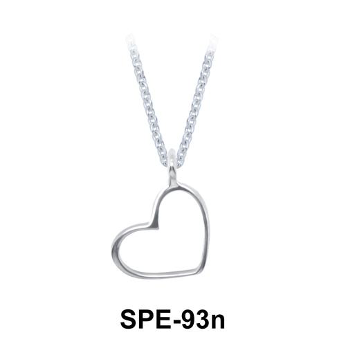 Silver Pendants Heart Line SPE-93n