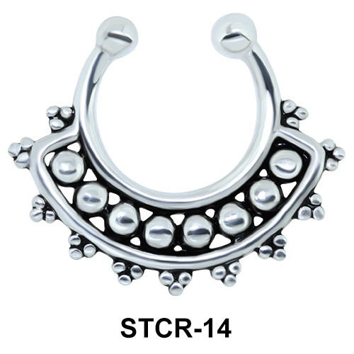 Indian Shape Septum Clip Ring STCR-14
