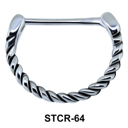 Spiral Shaped Septum Piercing STCR-64