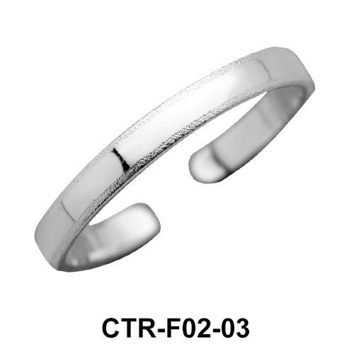 Classic Silver Toe Ring CTR-F02-03
