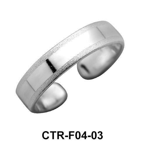 Plain Silver Toe Ring CTR-F04-03