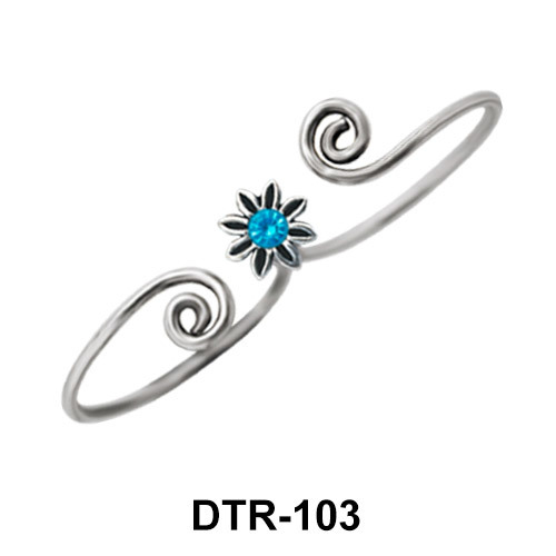Flower Silver Toe Ring DTR-103