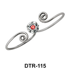 Floral Silver Toe Ring DTR-115