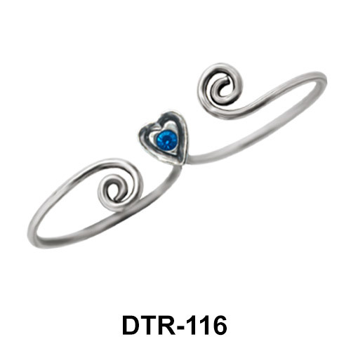 Heart Silver Toe Ring DTR-116