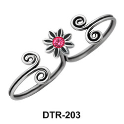 Flower Silver Toe Ring DTR-203