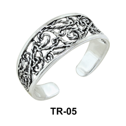 Toe Ring with Leafy Design TR-05