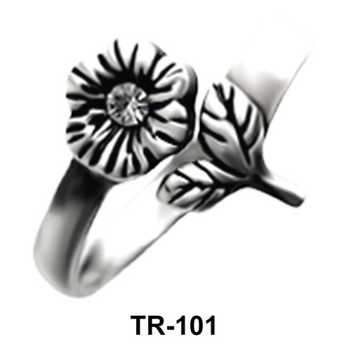 Toe Ring Sunflower Shaped with Leaves TR-101