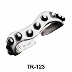 Toe Ring Wave with Dots TR-123