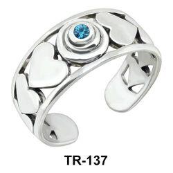 Toe Ring Heart Design TR-137