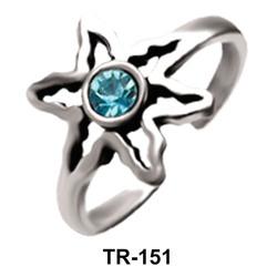 Flower Silver Toe Ring TR-151