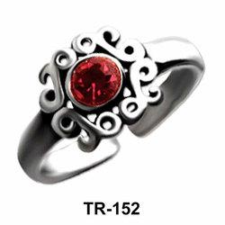 Designer Silver Toe Ring TR-152