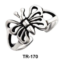 Butterfly Silver Toe Ring TR-170