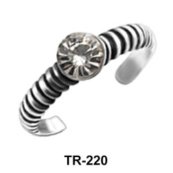 Toe Ring with Pave Setting Rhinestone TR-220