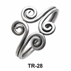 Exotic Silver Toe Ring TR-28