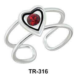 Toe Ring Sweet Heart TR-316