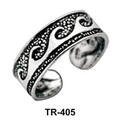 Wavy Silver Toe Ring TR-405