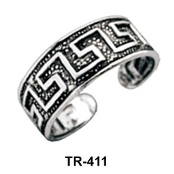 Antique Pattern Toe Ring TR-411