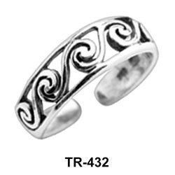 Toe Ring Circular with Intricate Design TR-432