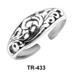 Toe Ring Circular with Decorative Design TR-433