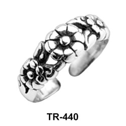 Floral Silver Toe Ring TR-440