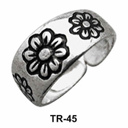 Toe Ring Circular with Floral Motif TR-45