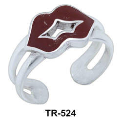 Toe Ring Pouted Lips Shaped TR-524
