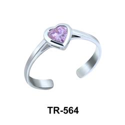Toe Ring Heart Shaped TR-564