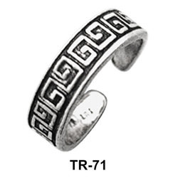 Toe Ring Circular with Intricate Design TR-71