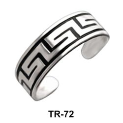 Toe Ring Circular with Decorative Design TR-72