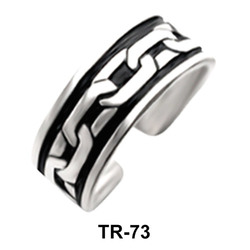 Chain Silver Toe Ring TR-73