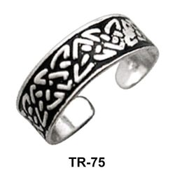 Intricate Designer Toe Ring TR-75
