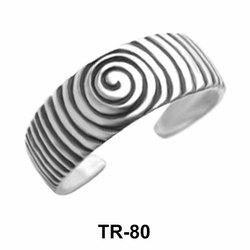 Spiral Design Toe Ring TR-80