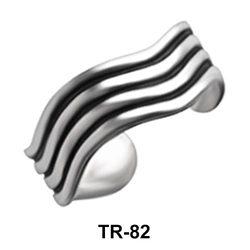 Wavy Design Toe Ring TR-82