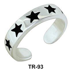 Toe Ring Star Pattern TR-93