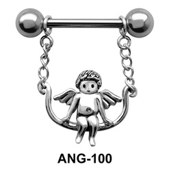 Swinging Fairy Shaped Nipple Piercing ANG-100