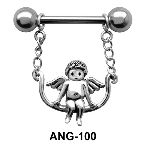 Swinging Fairy Shaped Nipple Piercing ANG-100