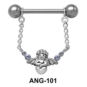 Fairy Shaped Chain Nipple Piercing ANG-101