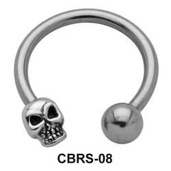 Skull Nipple Circular Barbell CBRS-08