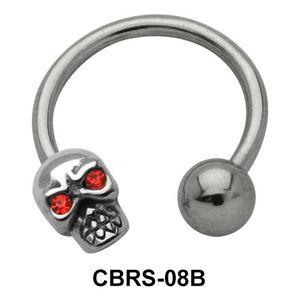 Skull Nipple Piercing Circular Barbells CBRS-08B