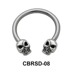 Head Skull Nipple Circular Barbell CBRSD-08