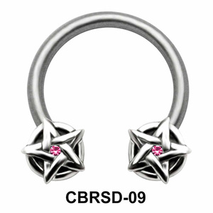 Shiny Stars Nipple Circular Barbell CBRSD-09