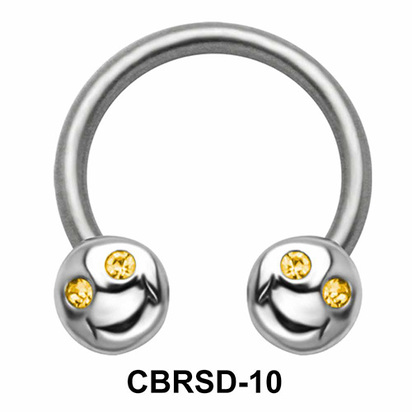 Smile Face Nipple Circular Barbell CBRSD-10