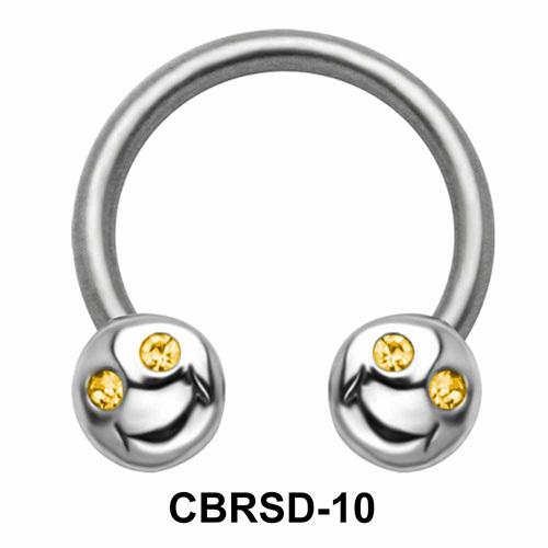Smile Face Nipple Circular Barbell CBRSD-10