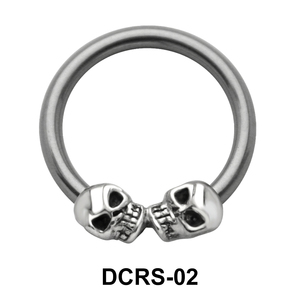 Skull Nipple Piercing Closure Ring DCRS-02