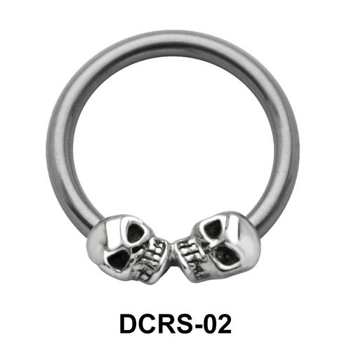 Skull Nipple Piercing Closure Ring DCRS-02