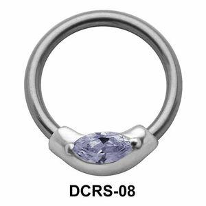 CZ Stone Nipple Piercing Closure Ring DCRS-08