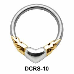 Fiery Heart Nipple Piercing Closure Ring DCRS-10