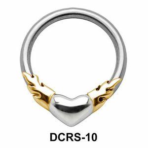 Fiery Heart Nipple Piercing Closure Ring DCRS-10