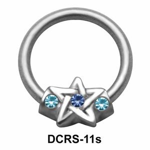 Star Nipple Piercing Closure Ring DCRS-11